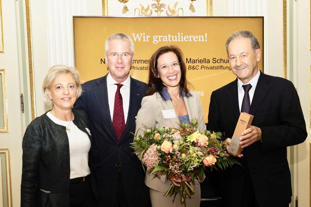 Mariella Schurz und Norbert Zimmermann sind Stifter des Jahres 2019